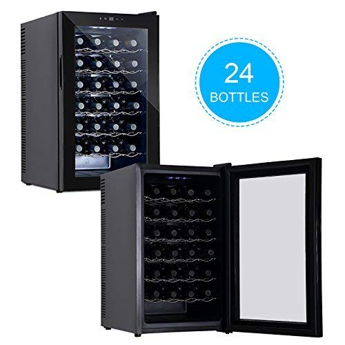 KUPPET BCW-70A 28 Bottles Thermoelectric Freestanding Wine Cooler/Chiller-Red/White Wine, Beer and Champagne Wine Cellar-Digital Temperature Display-Double-layer Glass Door-Quiet Operation by KUPPET (Image #2)