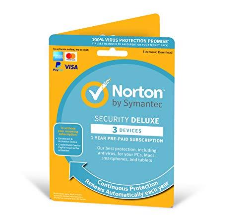 Antivirus Norton Security Deluxe 3-Devices 1 Year – antivirus inbegrepen – Windows, Mac, Android, iOs