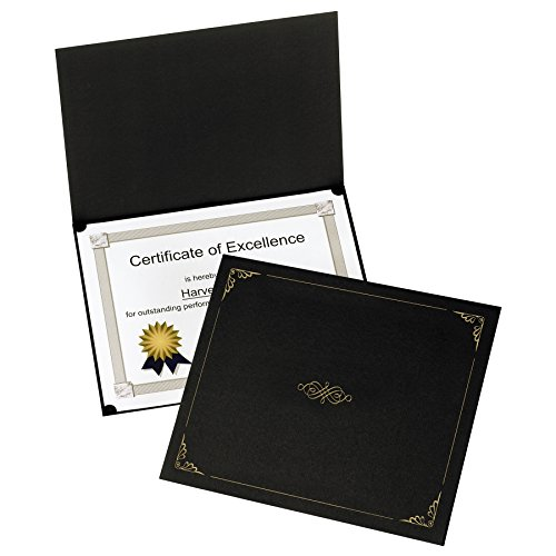 Gold Diploma Holder (Oxford Certificate Holders, Black, Letter Size, 5 per box (29900055BGD))