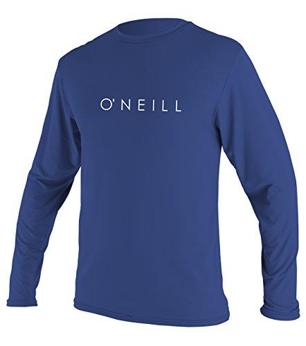 O'Neill Youth Basic Skins UPF 30 + Long Sleeve Sun Shirt, Pacific, -