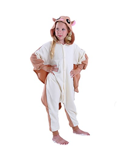 cosMonsters Kids Flying Squirrel Animal Onesies Cosplay Costume Pajamas for Girls and Boys(6) ()