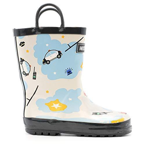 Mucky Wear Children's Rubber Rain Boot, Police, 5T US Toddler]()
