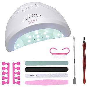 HASTHIP® 48W Electronic Professional LED UV Lamp Nail Dryer Polish Acrylic Gel Art Machine with Timer – EU Plug / Quick Dry / White Light – white