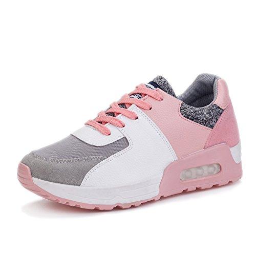 Fereshte Kvinna Sport Plattform Hälen Sneaker Run Vandringsskor Fleece Rosa