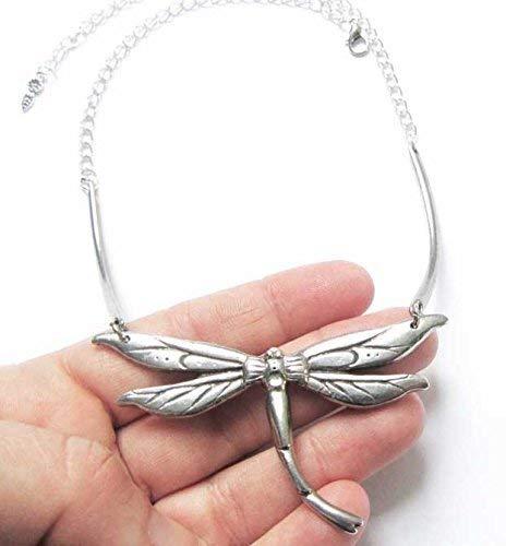 Stunning Dragonfly Art Nouveau style choker statement necklace