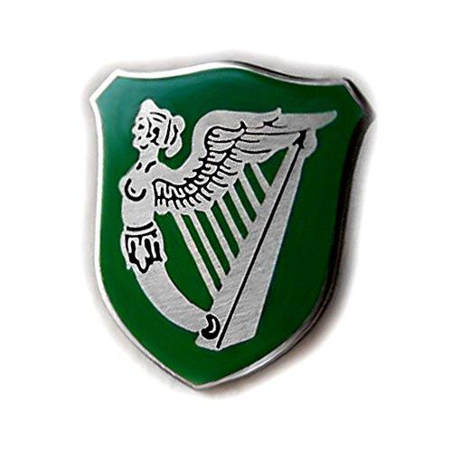 (VENICEBEE Ireland Green Flag HARP Winged Maiden Erin GO Bragh Irish Symbol Lapel PIN )