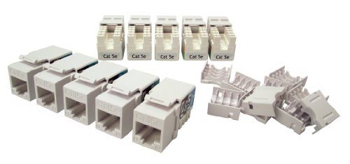 Shaxon BM603W810-10B, Category 5E Keystone Jack, 10 Pack, RJ45 to (Cat5e Keystone Jack Wiring)