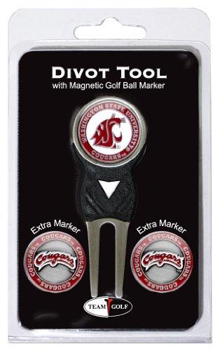 NCAA Washington State Cougars Divot Tool Pack With 3 Golf Ball (Ncaa Tools)