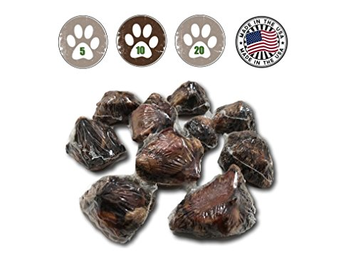 (Top Dog Chews USA Dog Bone Knee Caps - 100% Natural Long Lasting Beef Chews for Dogs Perfect for Small, Medium & Large Dogs )