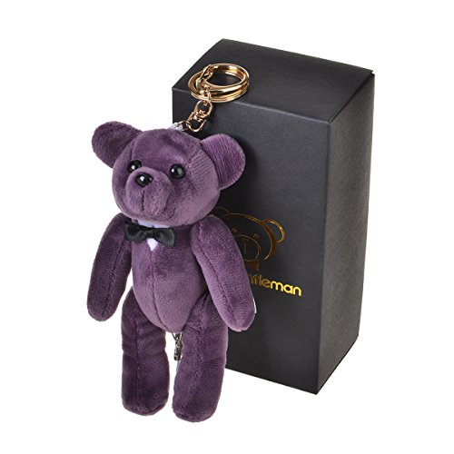 Bear Gentleman 130dB Personal Alarm Self Defense Rape Attack Safety Security with Keychain (Purple)