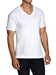 Fruit of the Loom premium tall men's v-neck undershirts are a soft and comfortable essential in a man's wardrobe. These men's cotton tees are made from a 100 percent cotton fabric and are specially designed to fit a tall man's body. Each unde...