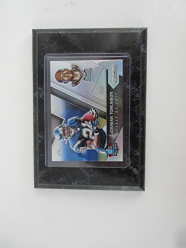Fame Induction Card - LaDAINIAN TOMLINSON SAN DIEGO CHARGERS 2017 PRIZM HALL OF FAME INDUCTION CARD MOUNTED ON A 4