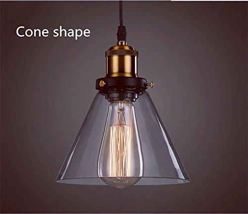 Techo de cristal luz de la iluminación de la lámpara pendiente de la lámpara Edison retro