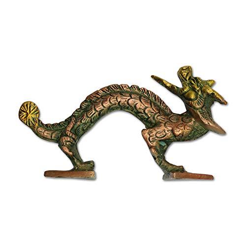 Culture Cross Brass Dragon 5.5 Inch Door Pull Cabinet Handle Antique Artistic Hardware Home Decor ()