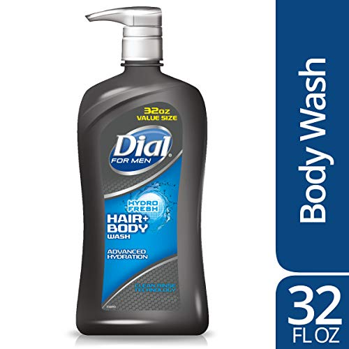 Dial for Men Hair + Body Wash, Hydro Fresh, 32 Ounce ()