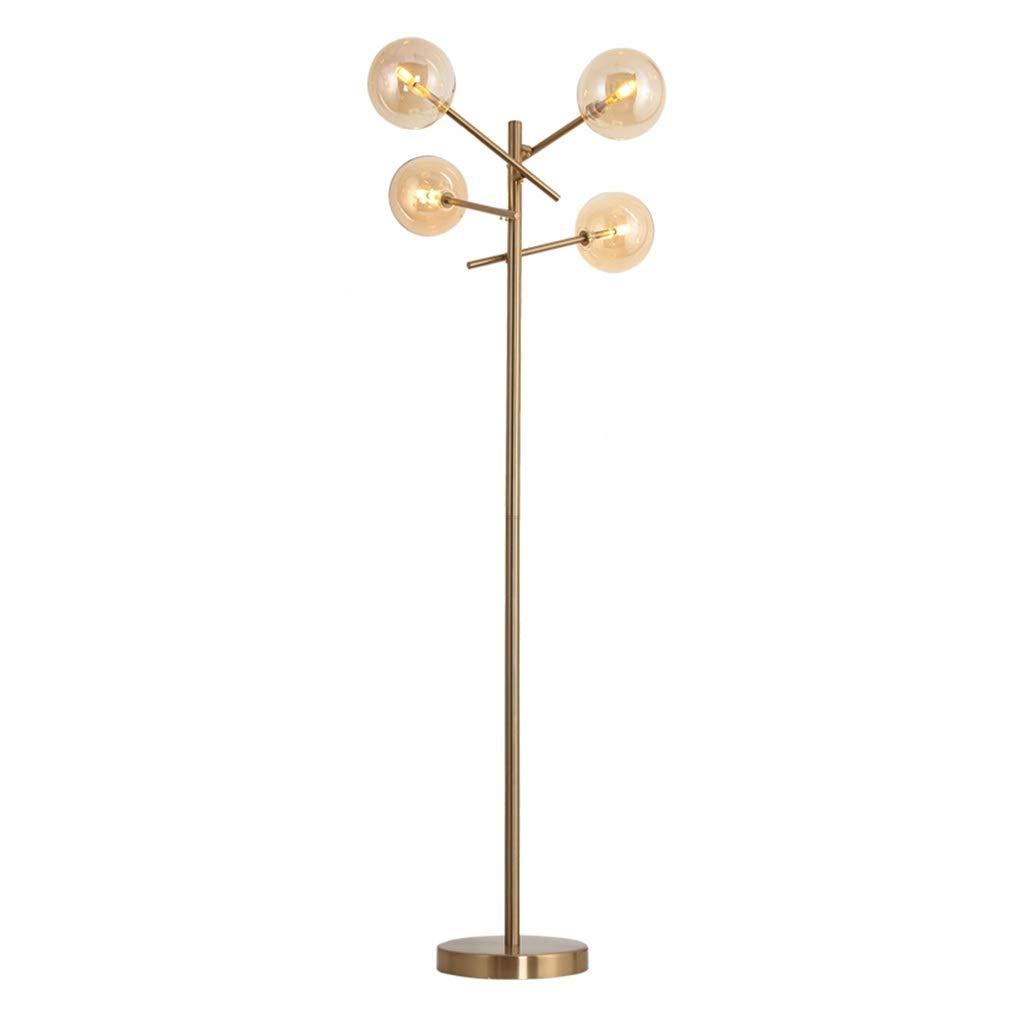 Hwhchフロアランプ ポストモダンアイアンフロアランプ|ビスタプリント居間の寝室G4X4のためのガラスランプシェードが付いている永続的なランプ高さ:151CM B07RGMM1WN