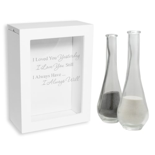 Cathy's Concepts Wedding Unity Sand Ceremony Shadow Box, White - Our Loves Written in The Sand ()