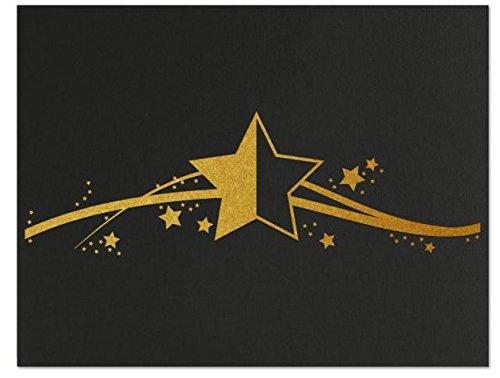 Successories 751555BK Star Linen Certificate Folders, Black