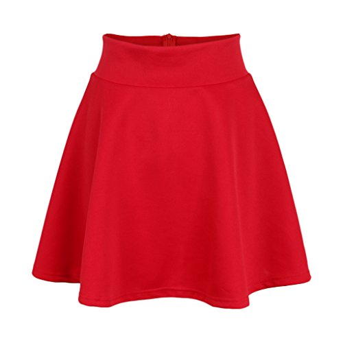Femmes Rouge Vintage Jupes Line A vases mi Longues Sharplace 7Rdxwvq87