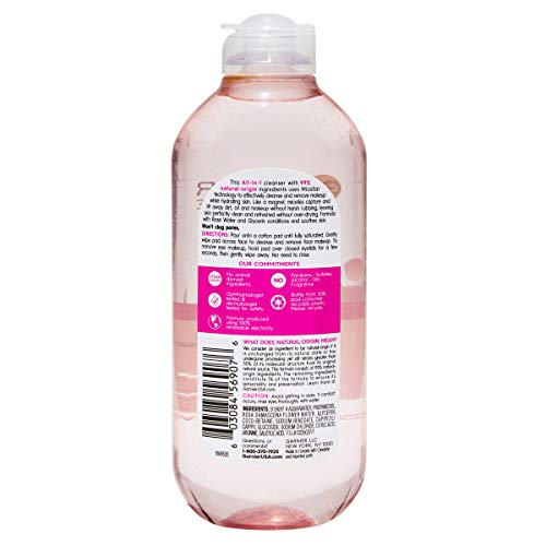 Garnier SkinActive Micellar Cleansing Water with Rose Water and Glycerin, All-in-1 Hydrating, For Normal to Dry Skin, 13.5 Fl Oz 2