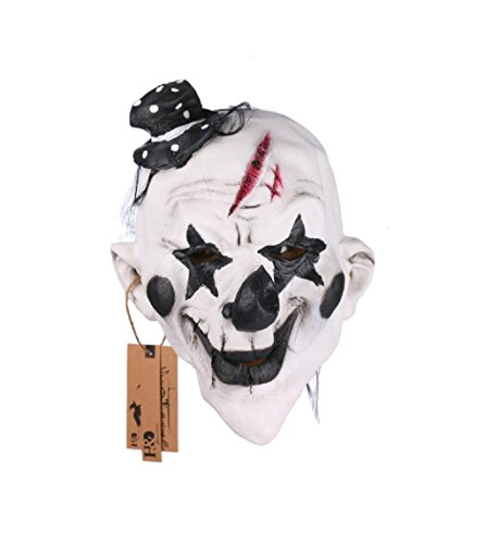 Black and White Scary Clown Mask Full Face Cosplay Horror Masquerade (Game Maker Costume Hunger Games)