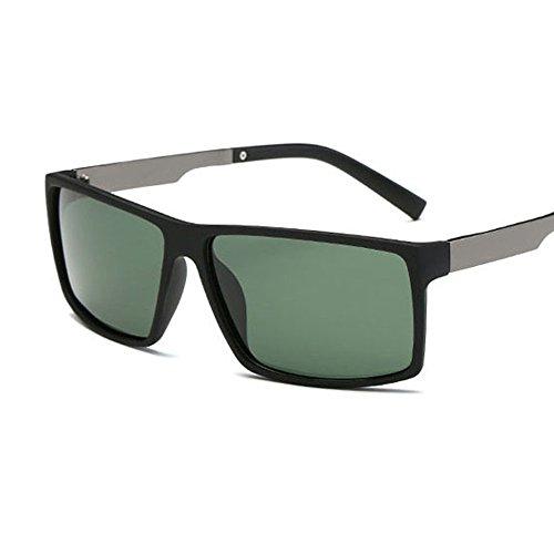 Deportes Playa Ligero Gafas Verde Ciclismo Pesca UV400 Moda Aire Kennifer Negro Polarizado Gafas Rectangular Hombres para al sol Marco Libre Protección Irrompible Gafas Hombre Conducir de 7R1qYp