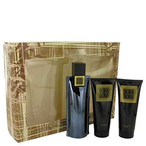 Bora Bora by Líz Cláíbórné for Men Gift Set - 3.4 oz Cologne Spray + 3.4 oz Body Moisturizer + 3.4 oz Hair & Body Wash ()