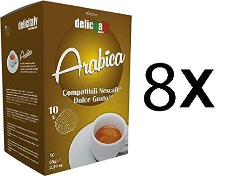 Cápsulas Compatibles Dolce Gusto®* 100% Arabica 80 bebidas: Amazon.es: Alimentación y bebidas