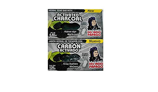 Amazon.com : Jabón Herbal de Tocador con Carbón Activado (2-Pack) : Beauty