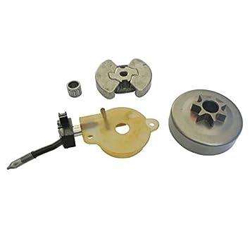 jrl Bomba de aceite tambor de embrague para cojinete de agujas para motosierras Husqvarna 41 136 137 141 142: Amazon.es: Coche y moto