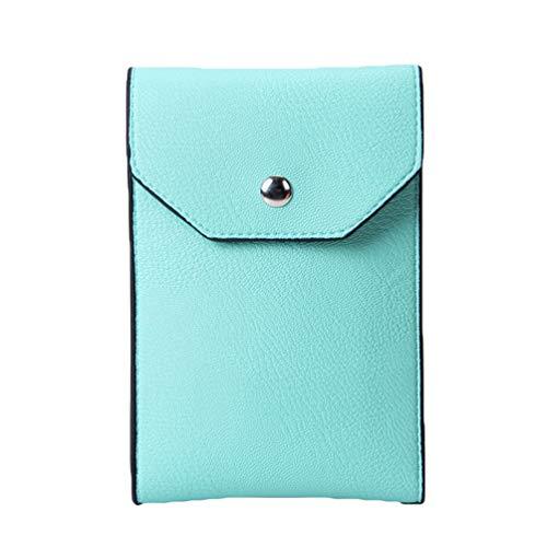 Cell Multifunctional Single Phone Green Women Leather Crossbody Shoulder Artificial Mini Bag Clutch Bags Kairuun Wallet xI0w1aqw