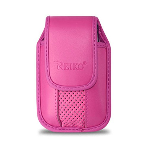 Reiko Leather Pouch Protective Carrying Cell Phone Case f...