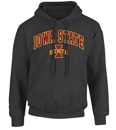 Iowa State Cyclones Hooded Sweatshirt Arch Charcoal - M