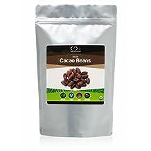 Raw Organic Shelled Cacao Beans, 0.454 Kg, (1 Lb)