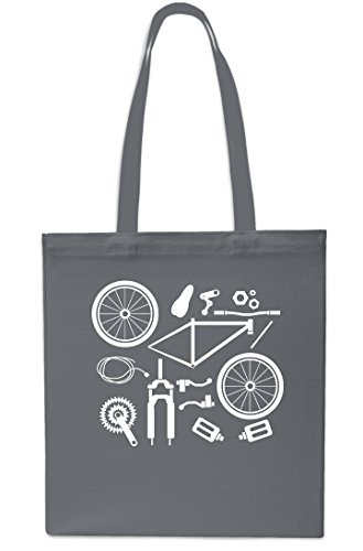 Dismantled Tote Parts Bike Black Bag Grey 42cm Gym Shopping Small Beach Bicycle x38cm litrest 10 EqtEdrxUpw