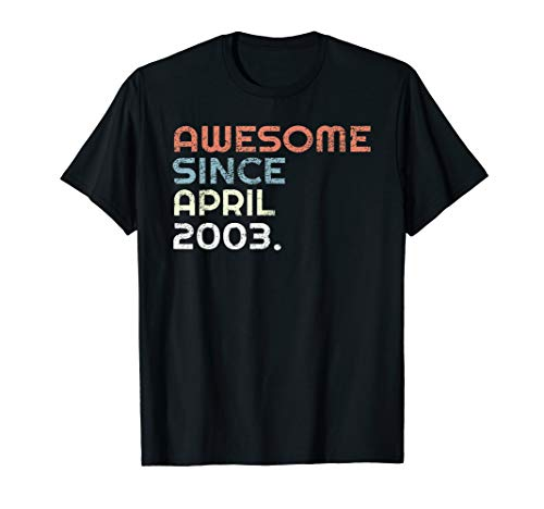 Vintage 16th Birthday Gift April 2003 16 Years Old T Shirt