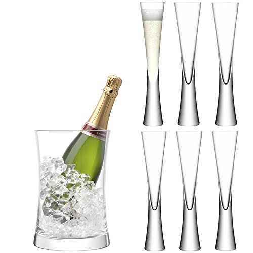 LSA International G1372-00-985 Moya Serving Set, Clear (Lsa Champagne Flute)