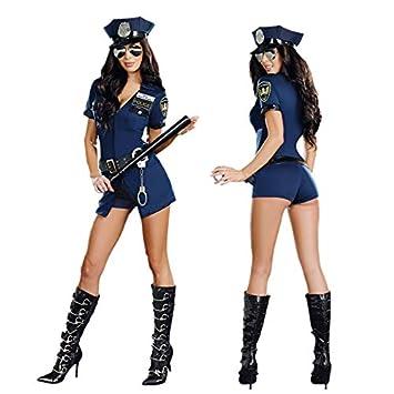 GYH Abaobao Traje De Policía Disfraz Mujer Uniforme De ...