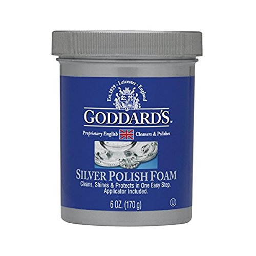 (Goddards Silver Polisher - 170g/6 oz. Cleansing Foam with Sponge Applicator - Tarnish Remover)