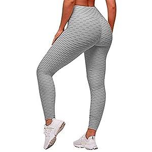 Uniquestyle Leggings de Compression Anti-Cellulite Slim Fit Butt Lift Elastique Pantalon de Yoga Taille Haute Sport pour…