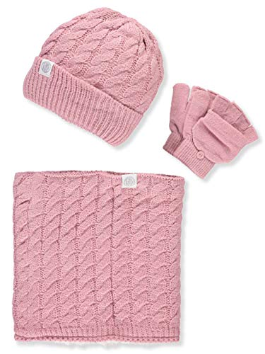 DKNY Girls' 3-Piece Winter Accessories Set - Pink, 7-16 by DKNY (Image #2)