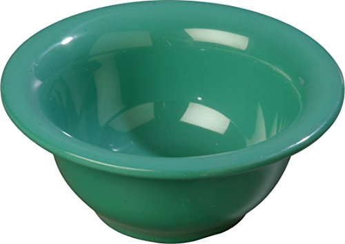 Carlisle 4303809 Durus Rimmed Melamine Nappie Bowl, 10 Oz., Green (Pack of 24) Rimmed Nappie Bowl