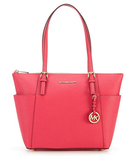 MICHAEL MICHAEL KORS Jet Set Top-Zip Saffiano Leather Tote by MICHAEL Michael Kors