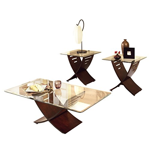 Steve Silver Company Café 3 Piece Occasional Table Set, Mer