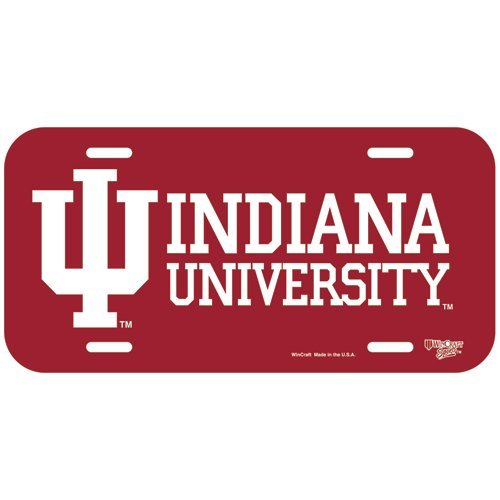 WinCraft NCAA Indiana Hoosiers License Plate, Team Color, One Size