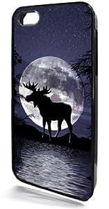 Night Moose Black I-iphone 5c Case from Redeye Laserworks