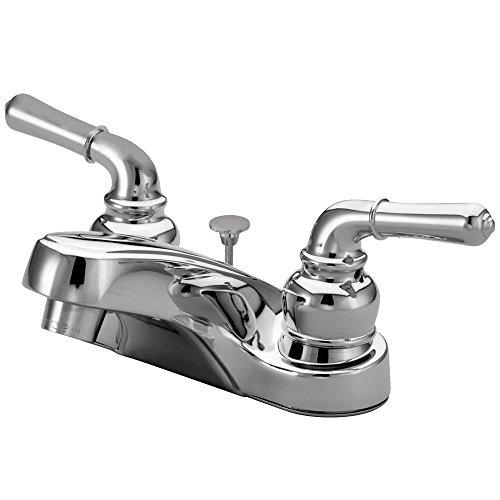 Design Magellan Centerset - Elements of Design Magellan EB251B Centerset Lavatory Faucet with Brass Pop-Up, 4-Inch, Polished Chrome