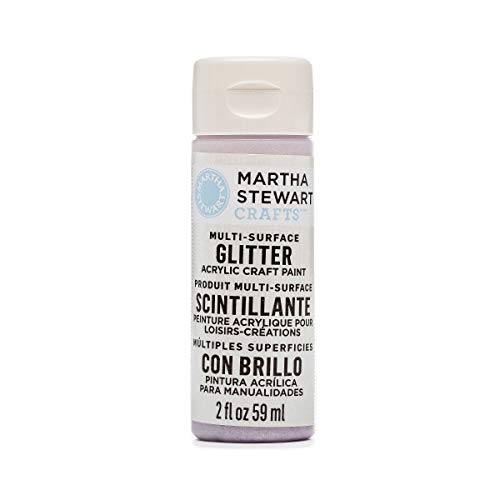 Martha Stewart Crafts Multi-Surface Glitter Acrylic Craft Paint in Assorted Colors (2-Ounce), 32185 Sugar -