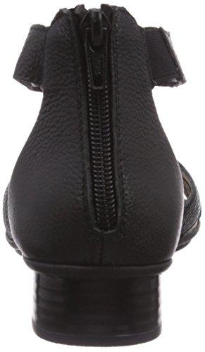 Rieker 69359 - Sandalias de vestir de cuero para mujer negro - Schwarz (schwarz / 00)