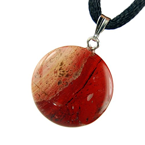 Fiery Jasper, Red Black Carved Gemstone 0.79